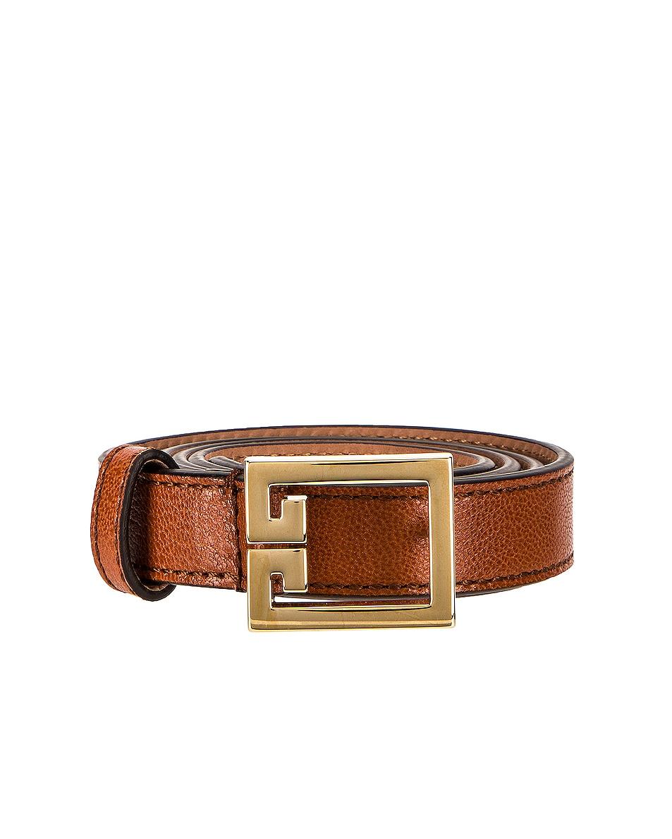 Image 1 of Givenchy Gv3 Buckle Belt in Chestnut