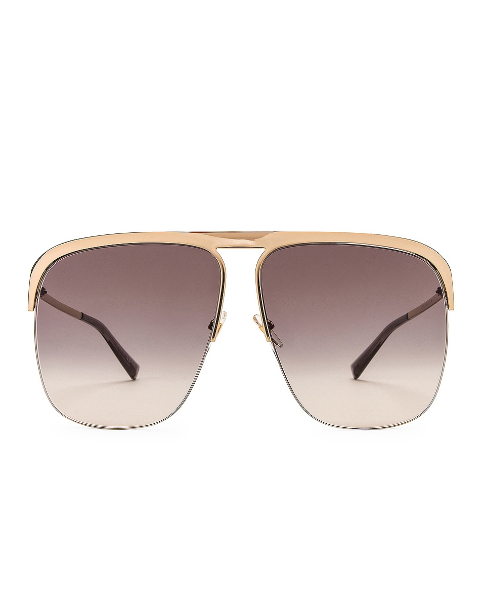 Image 1 of Givenchy Metal Aviator Sunglasses in Dark Grey Gradient & Gold
