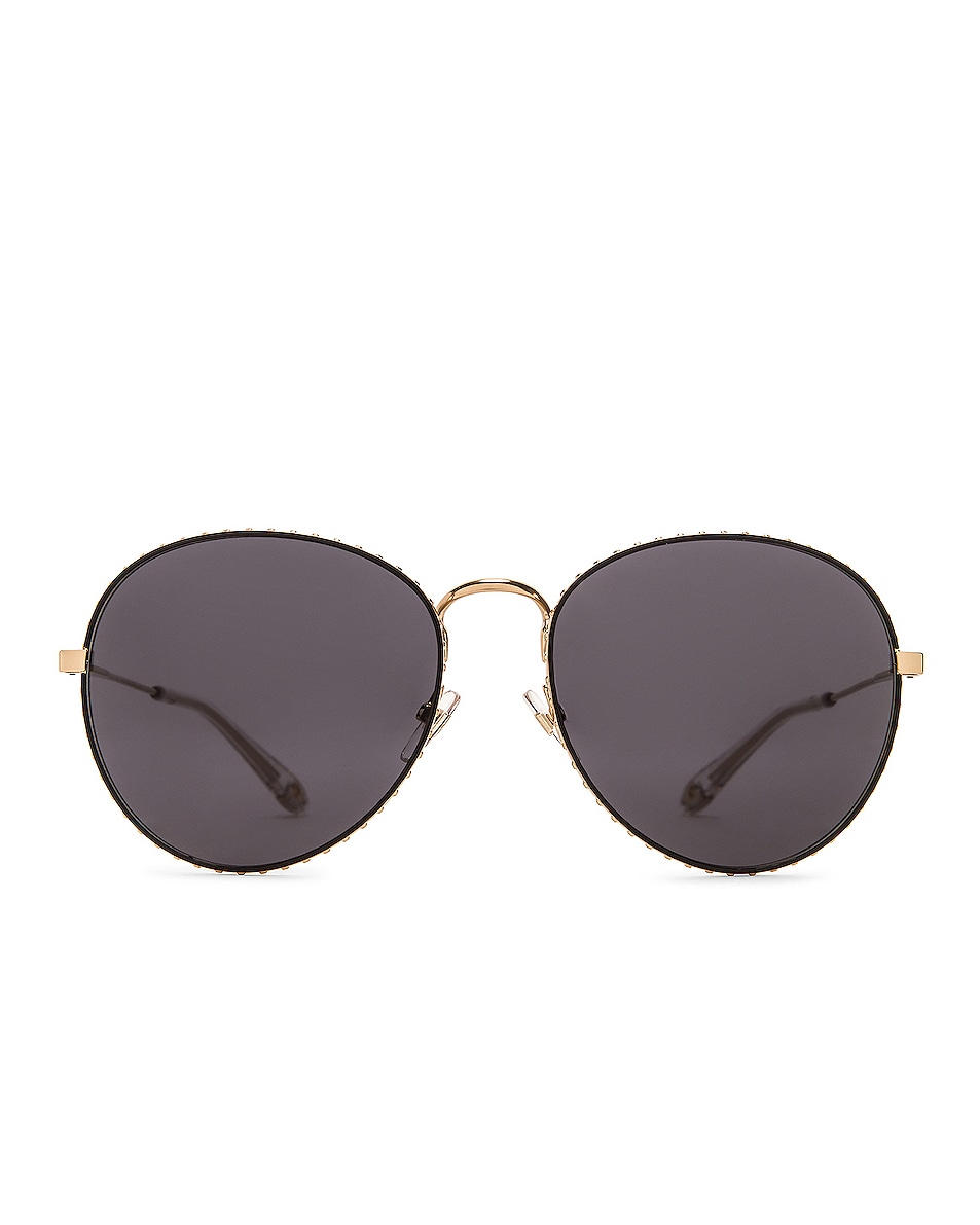 Image 1 of Givenchy Metal Round Sunglasses in Gold & Grey Blue