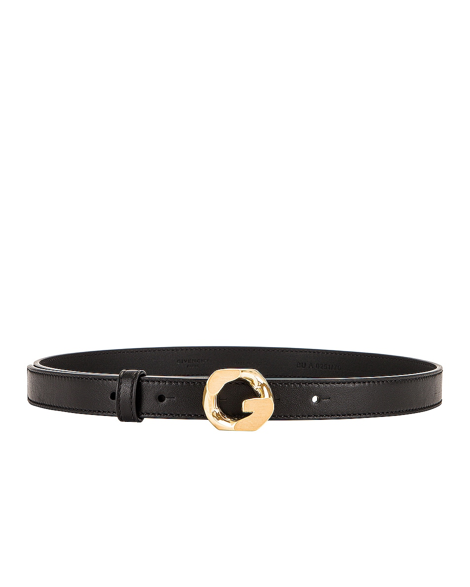 Image 1 of Givenchy Classic Belt in Black