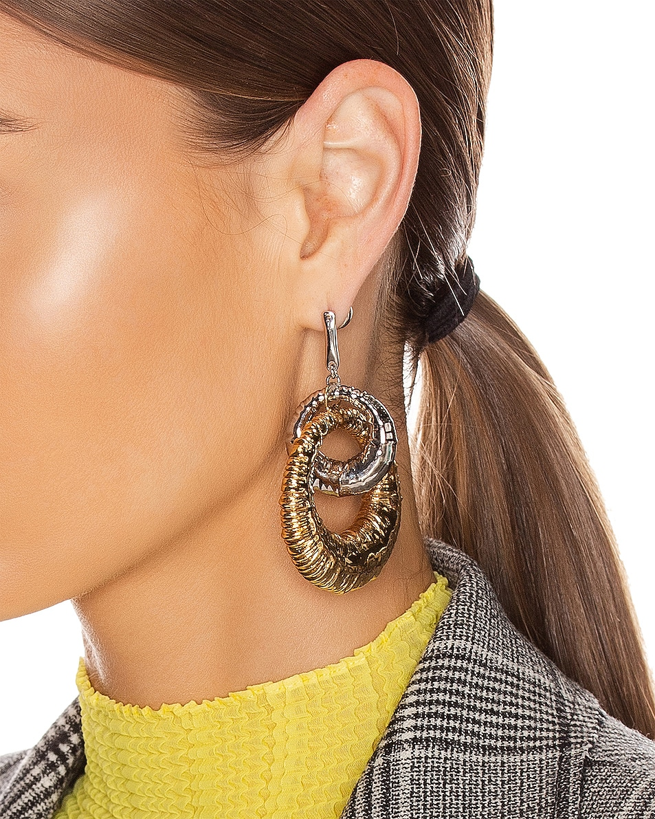 Image 2 of Givenchy Eclipse Earrings in Gold & Silver