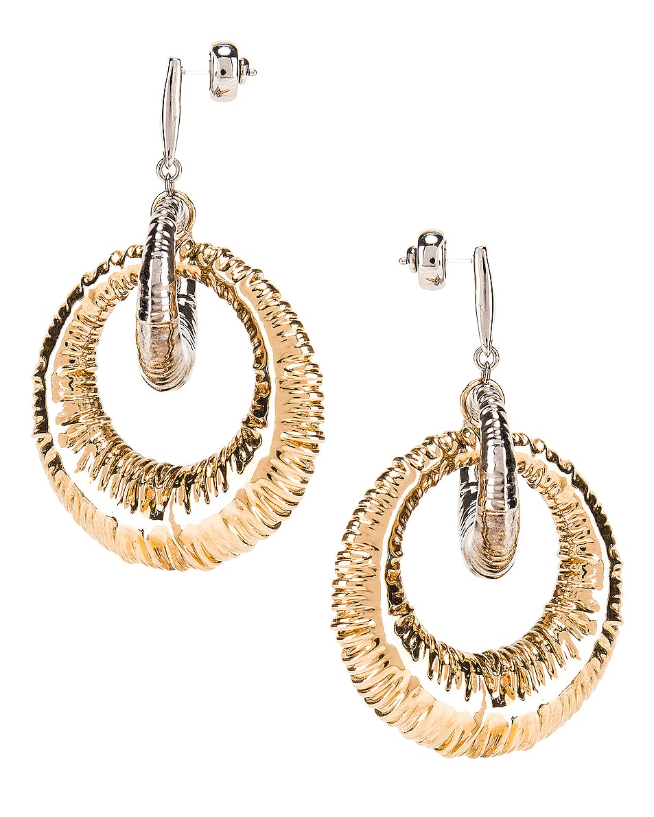 Image 3 of Givenchy Eclipse Earrings in Gold & Silver