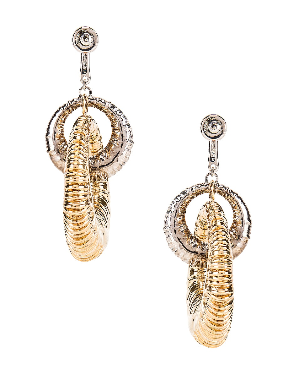 Image 4 of Givenchy Eclipse Earrings in Gold & Silver