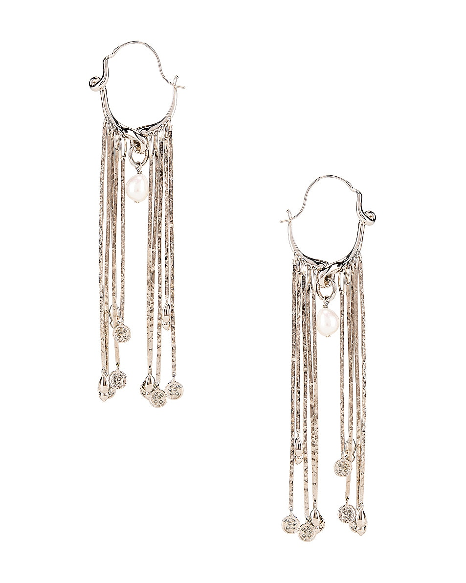 Image 1 of Givenchy Moon Earrings in Silver