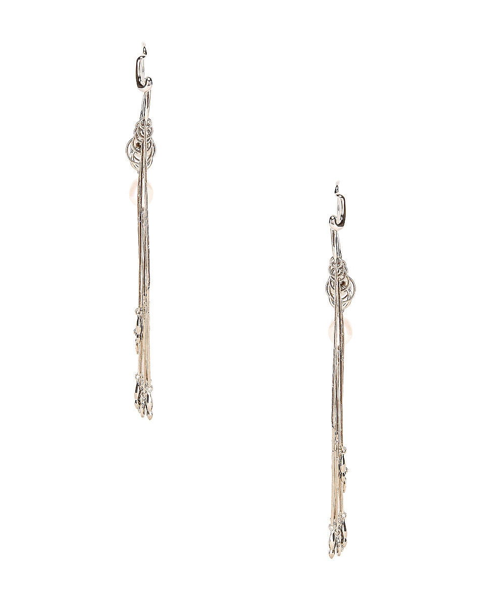 Image 3 of Givenchy Moon Earrings in Silver