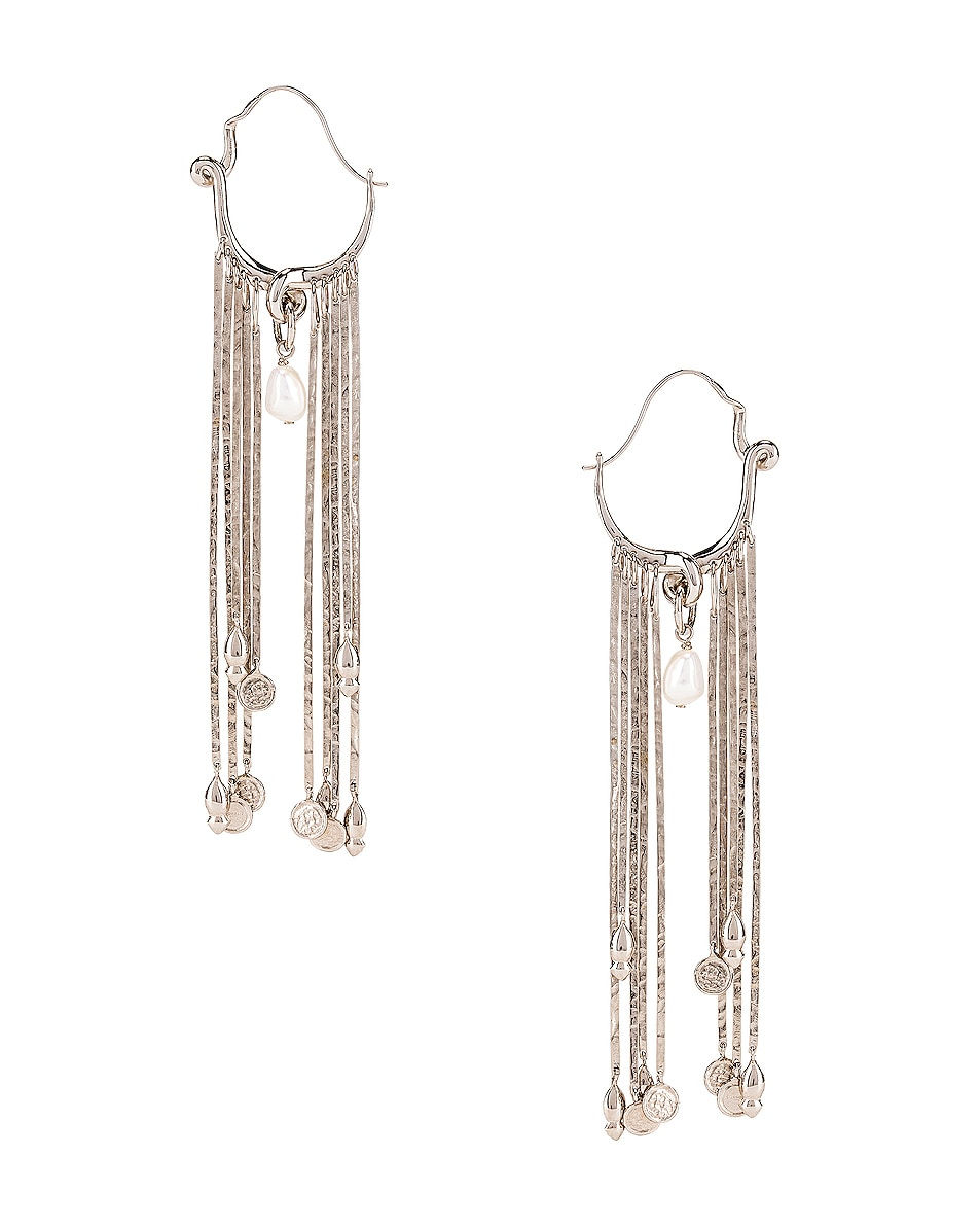 Image 4 of Givenchy Moon Earrings in Silver