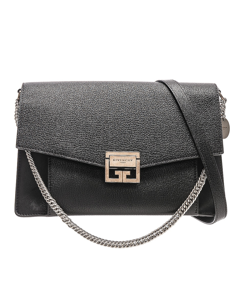 Image 1 of Givenchy Medium Leather GV3 in Black