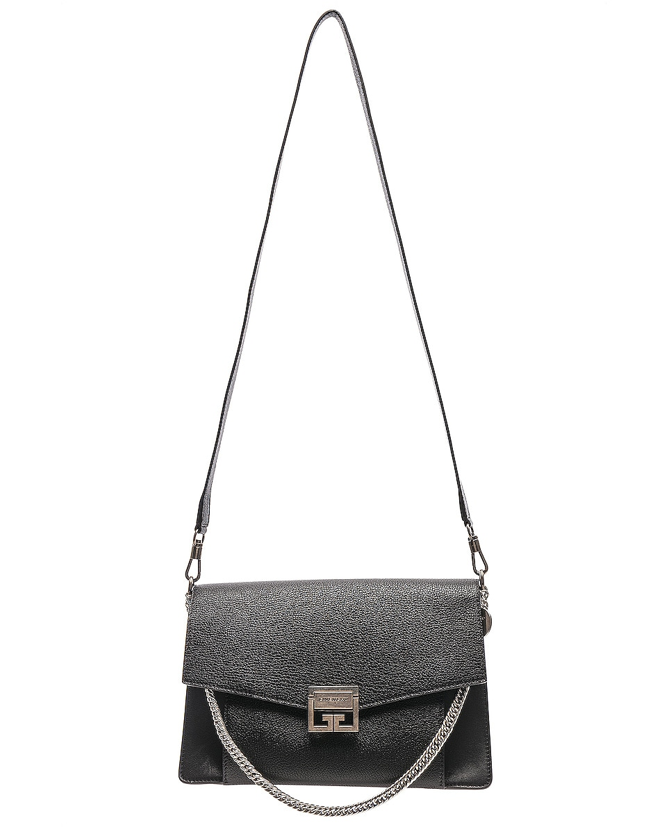 Image 6 of Givenchy Medium Leather GV3 in Black