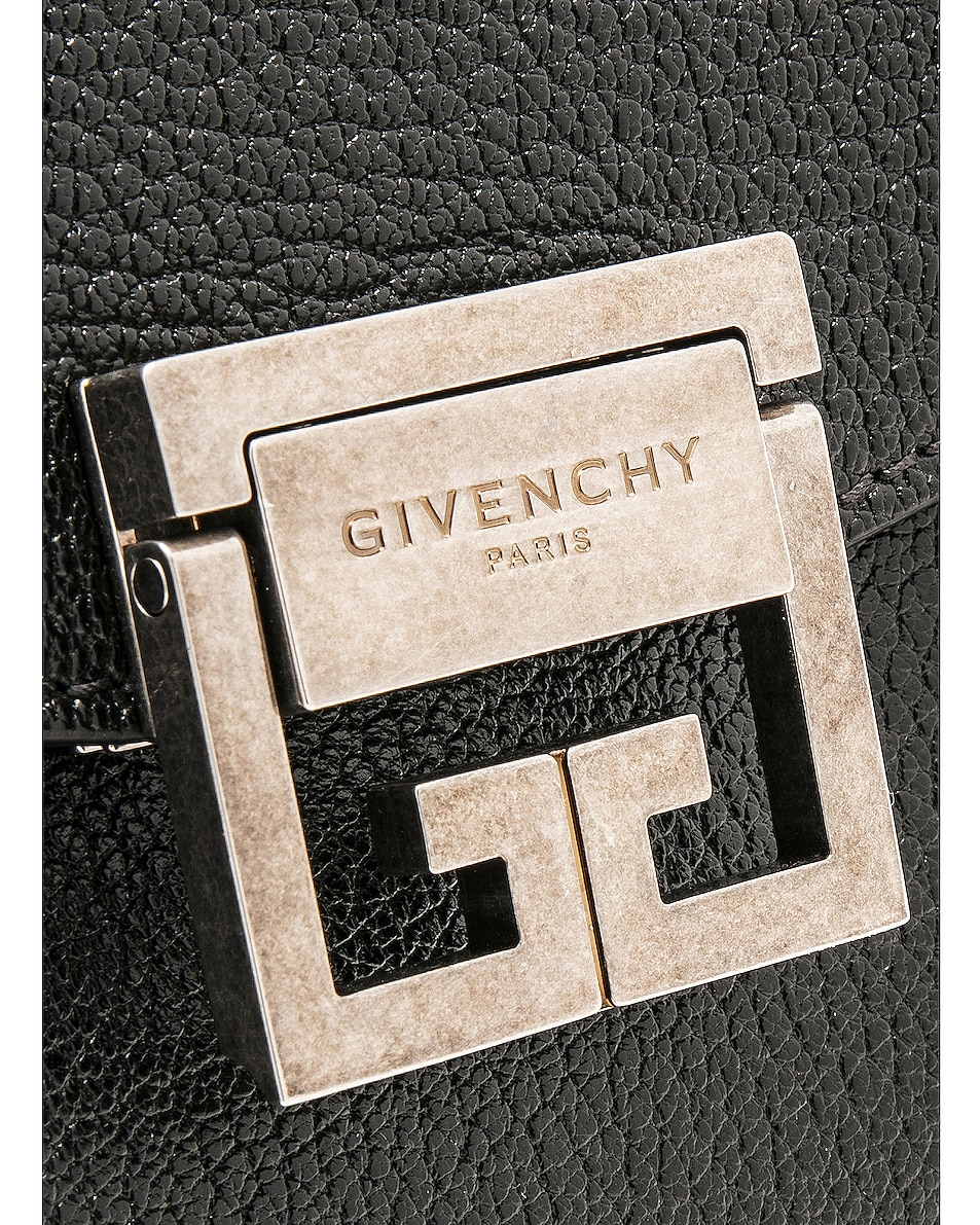 Image 8 of Givenchy Medium Leather GV3 in Black