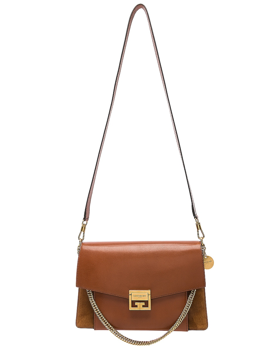 Image 6 of Givenchy Medium Leather GV3 in Chestnut