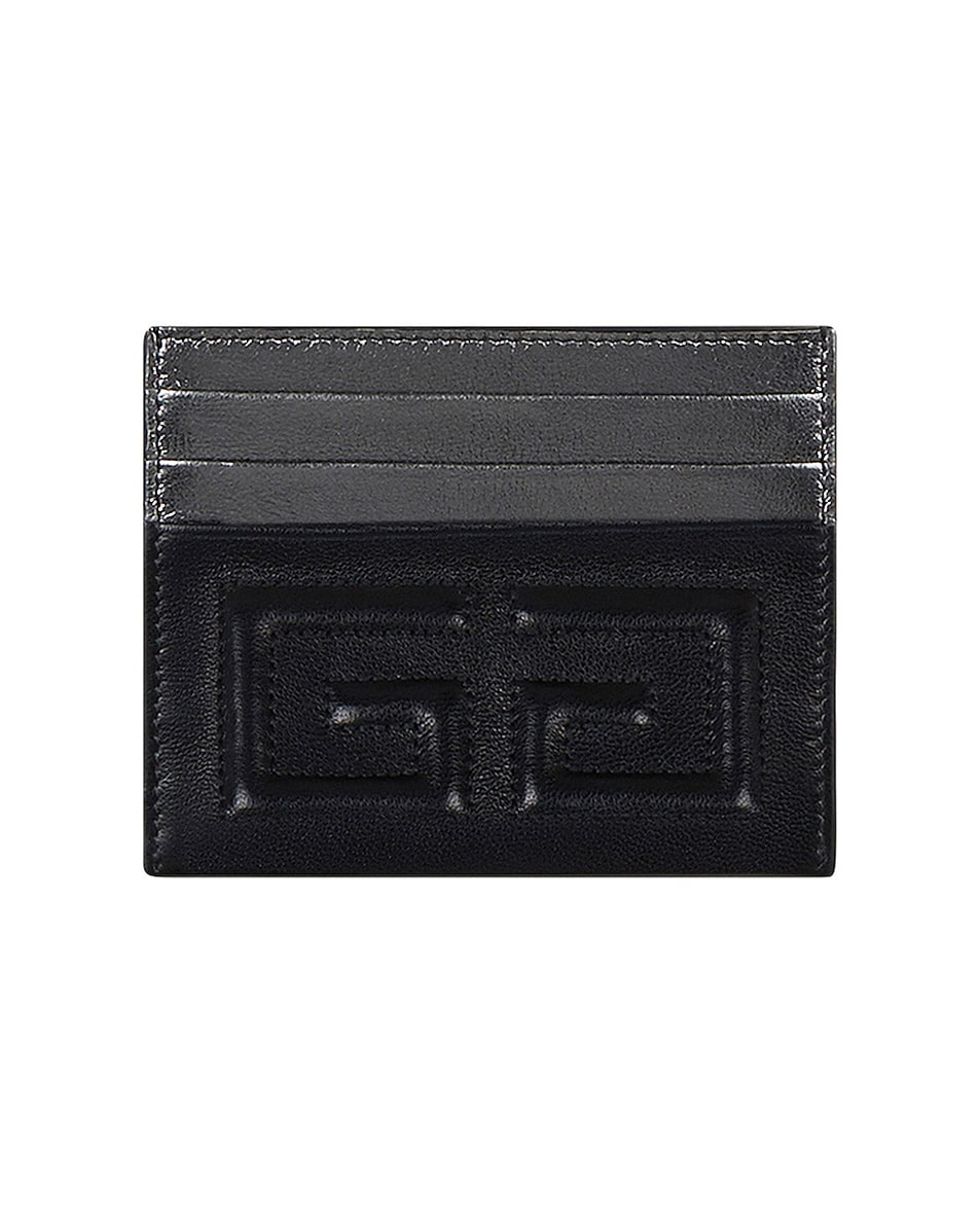 Image 1 of Givenchy Emblem Card Case in Black
