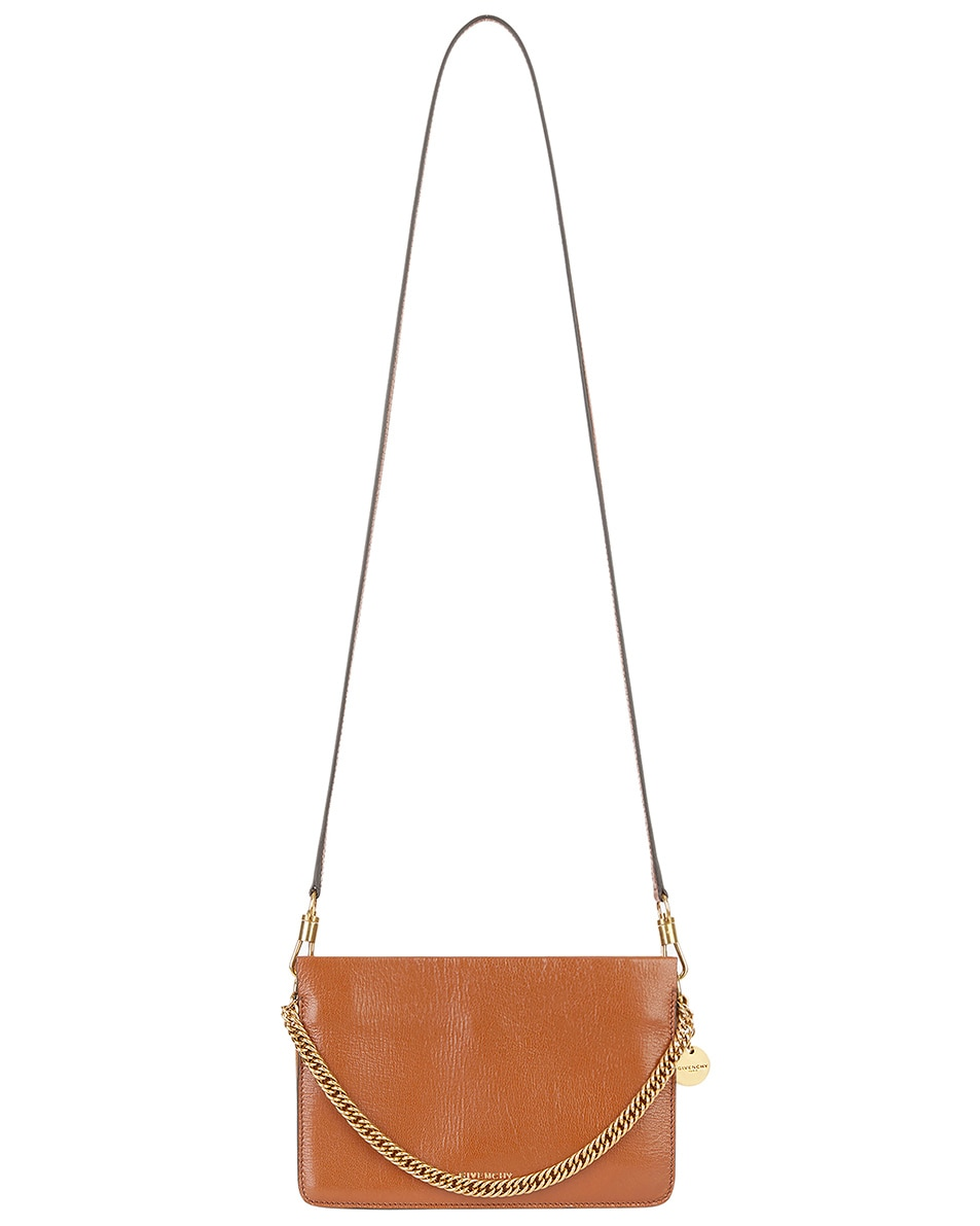 Image 3 of Givenchy Cross3 Leather Crossbody Bag in Chestnut