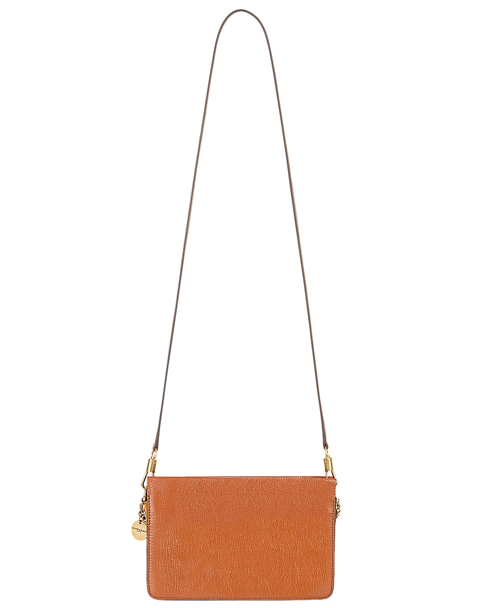 Image 4 of Givenchy Cross3 Leather Crossbody Bag in Chestnut