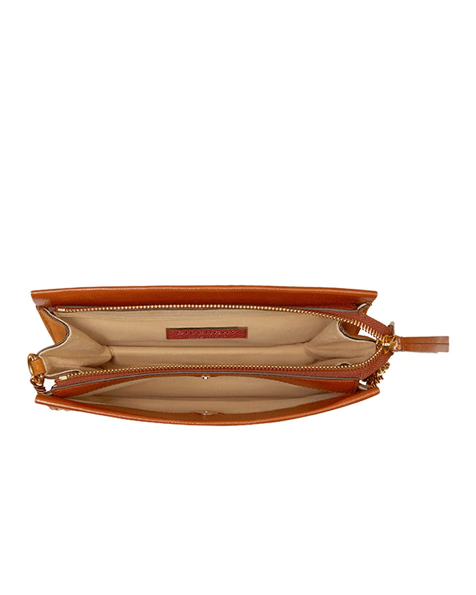 Image 6 of Givenchy Cross3 Leather Crossbody Bag in Chestnut