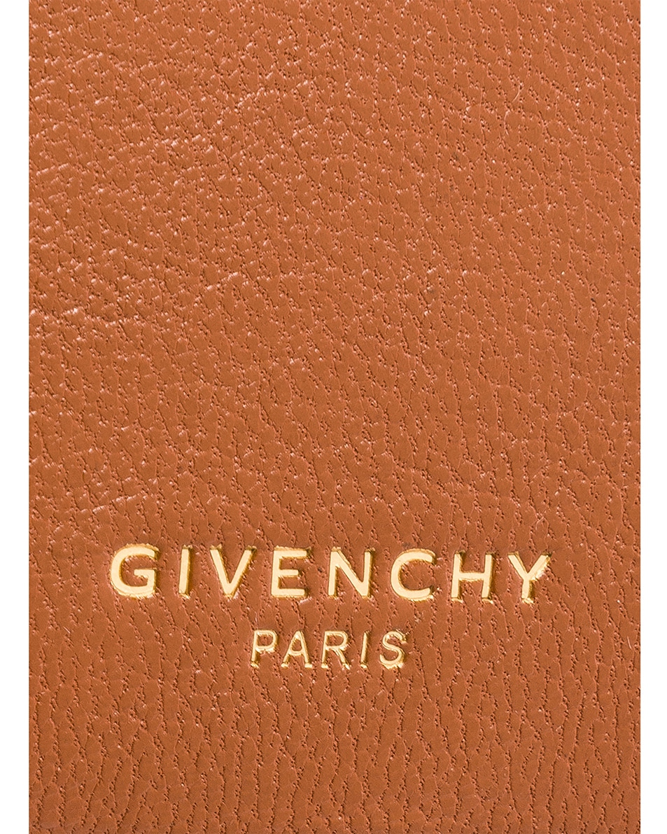 Image 7 of Givenchy Cross3 Leather Crossbody Bag in Chestnut