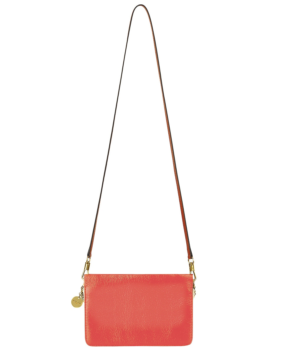 Image 4 of Givenchy Leather Crossbody Bag in Poppy Red & Sand