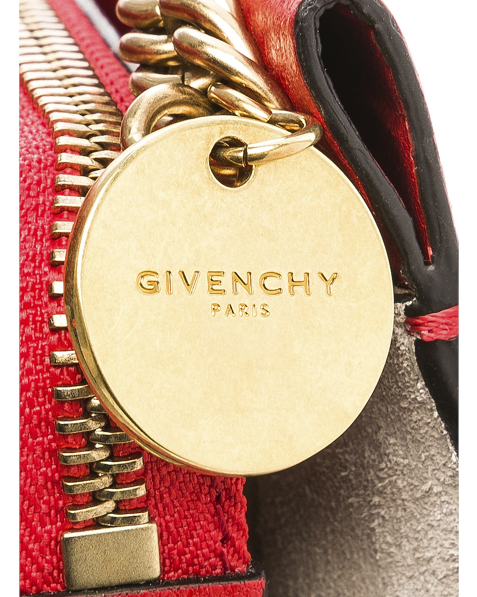 Image 8 of Givenchy Leather Crossbody Bag in Poppy Red & Sand