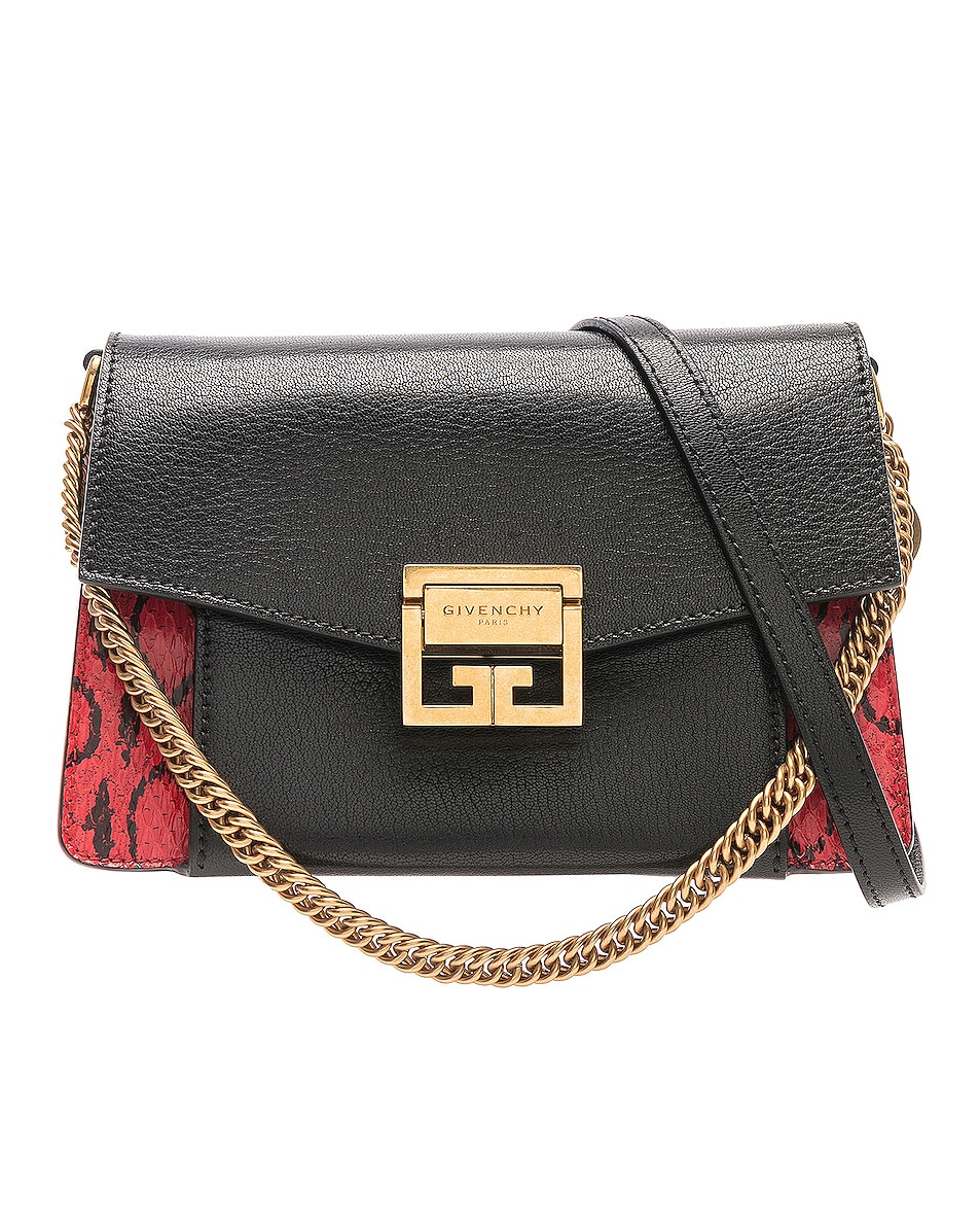 Image 1 of Givenchy Small Leather GV3 in Red & Black