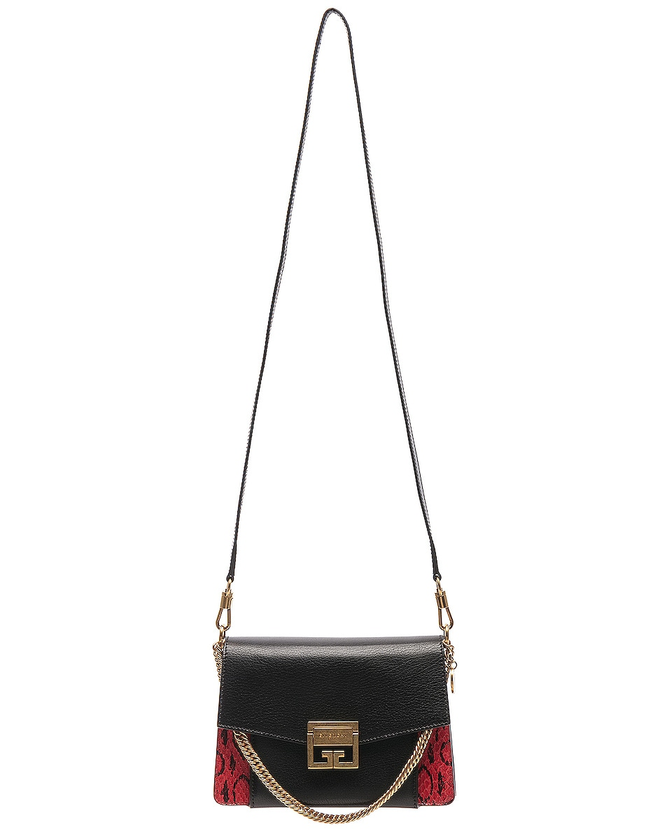 Image 6 of Givenchy Small Leather GV3 in Red & Black