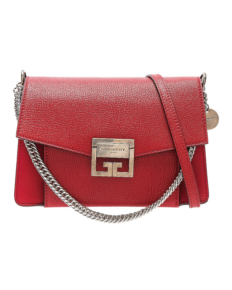 Image 1 of Givenchy Small Leather GV3 in Bright Red