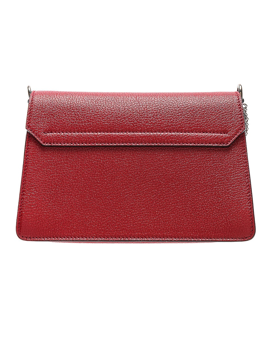 Image 3 of Givenchy Small Leather GV3 in Bright Red