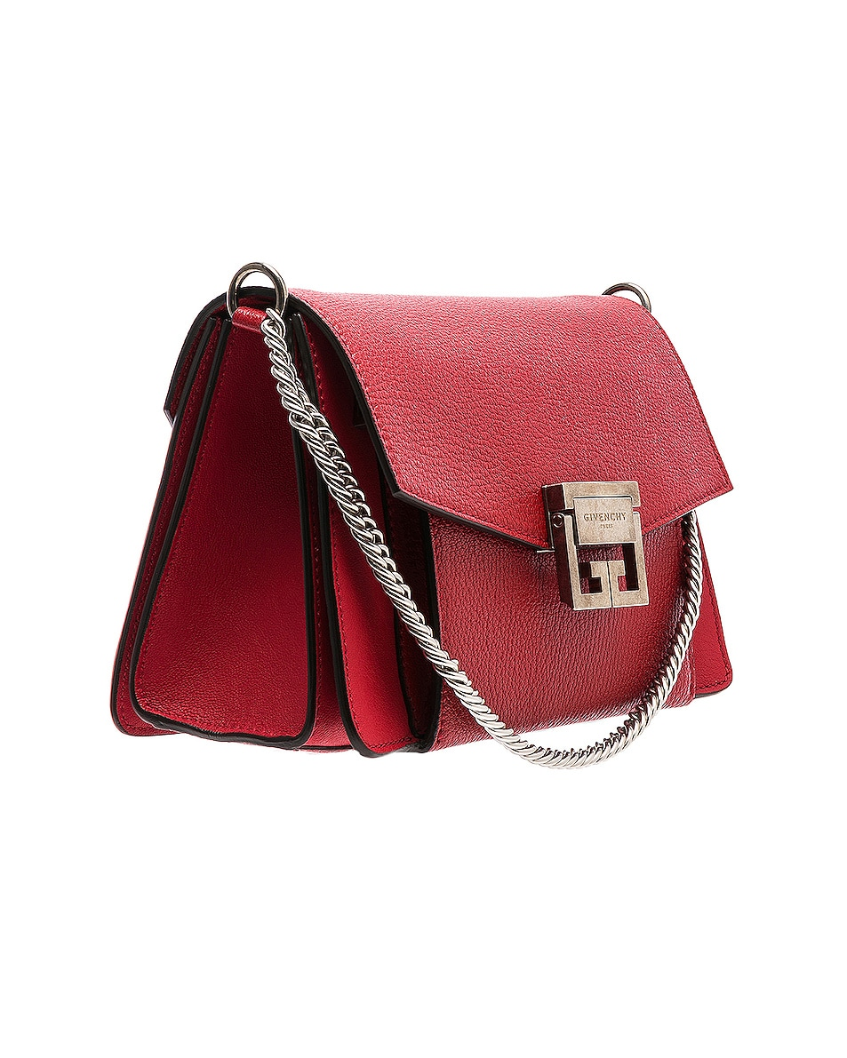 Image 4 of Givenchy Small Leather GV3 in Bright Red