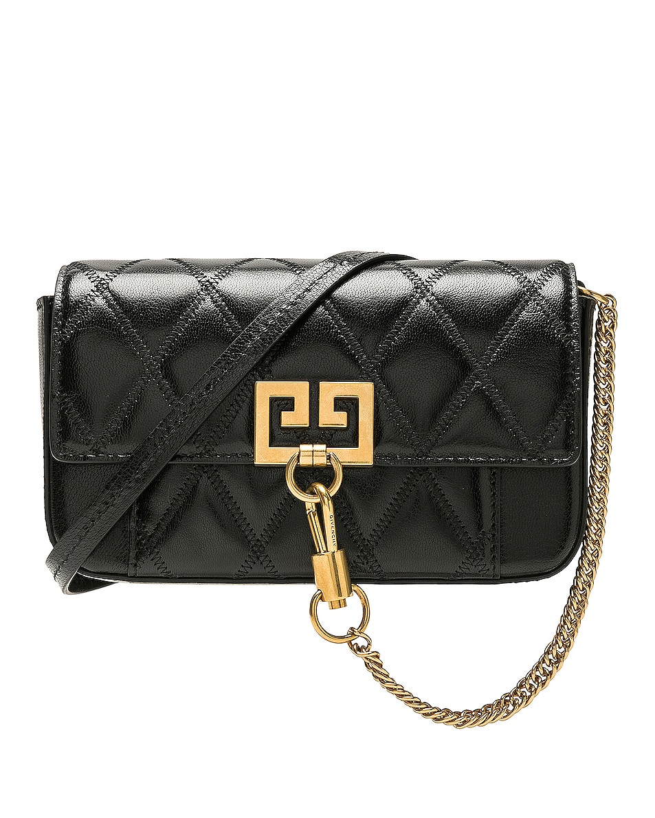 Image 1 of Givenchy Mini Pocket Chain Bag in Black