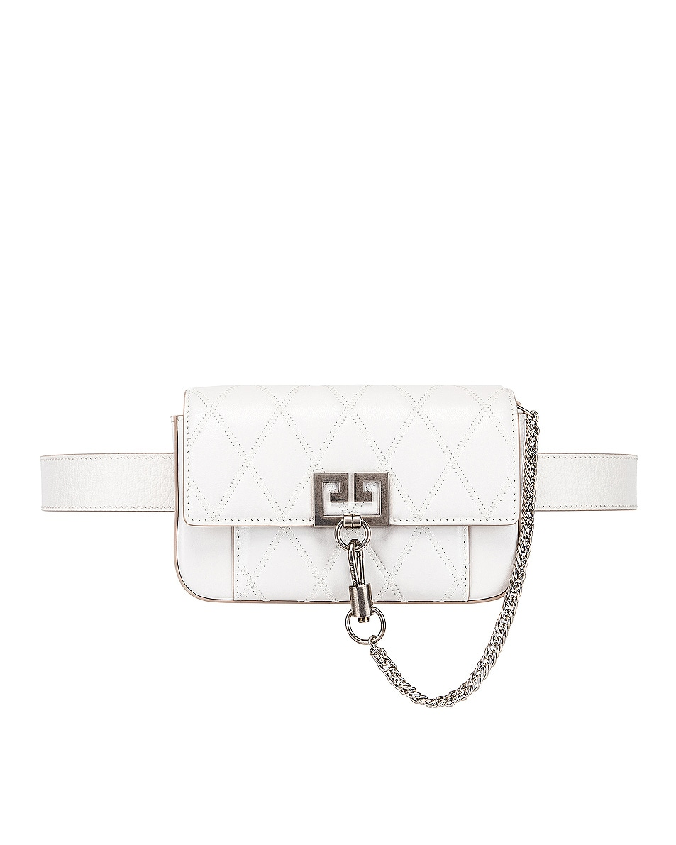 Image 4 of Givenchy Mini Pocket Chain Bag in White