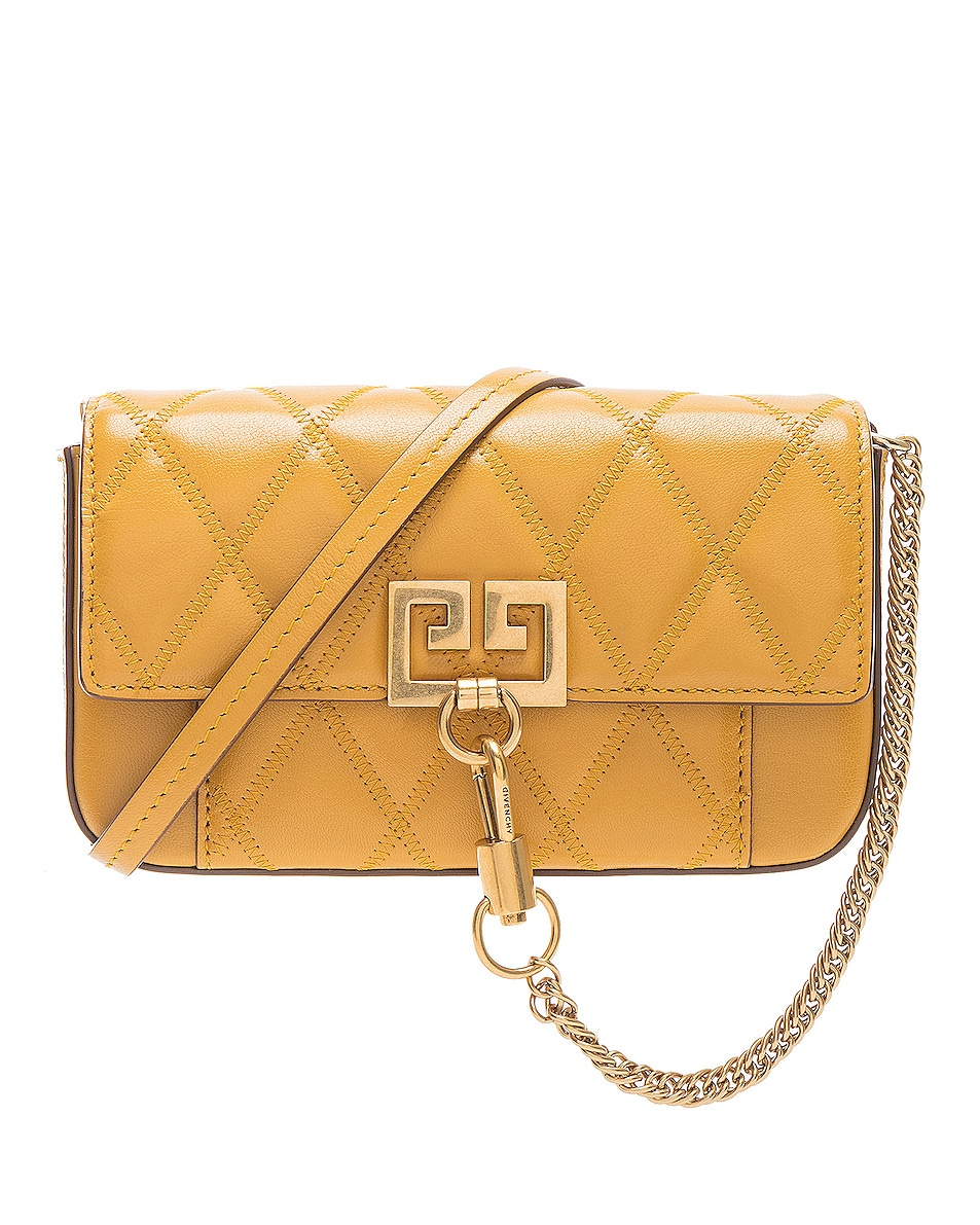 Image 1 of Givenchy Mini Pocket Chain Bag in Golden