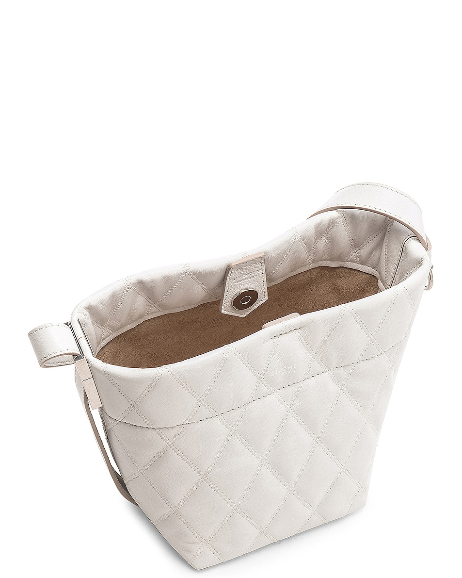 Image 5 of Givenchy Mini GV Convertible Bucket Bag in White
