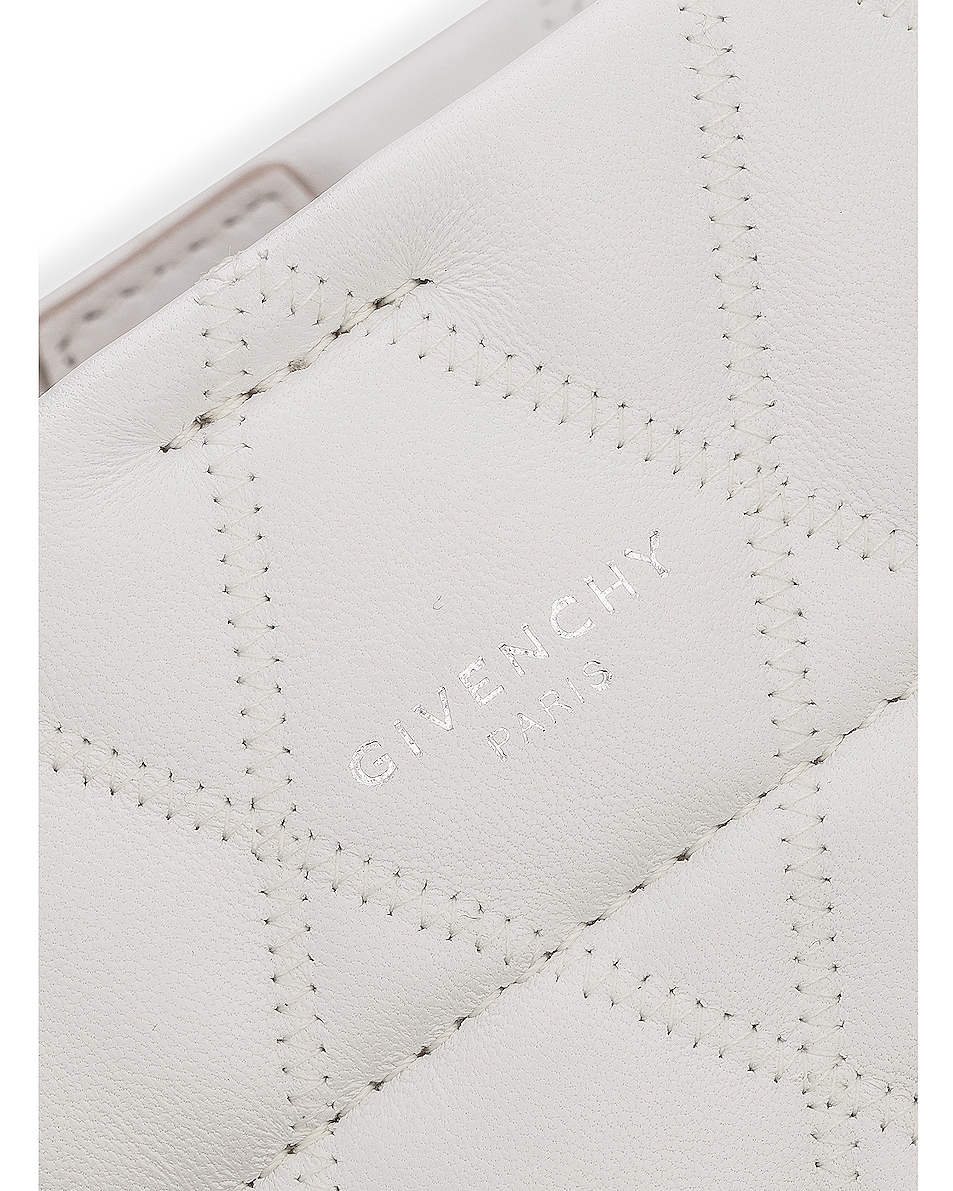 Image 7 of Givenchy Mini GV Convertible Bucket Bag in White