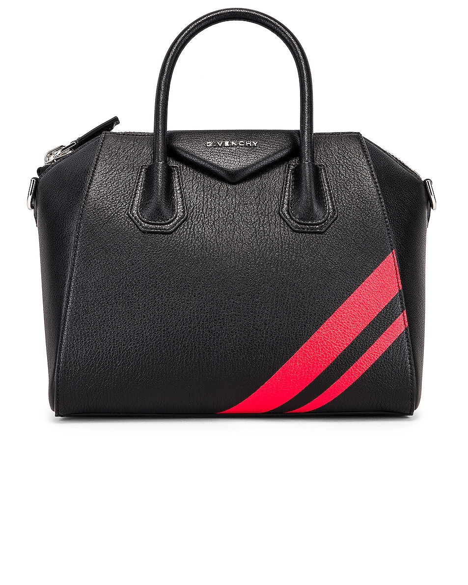 Image 1 of Givenchy Small Antigona Bag in Black & Red