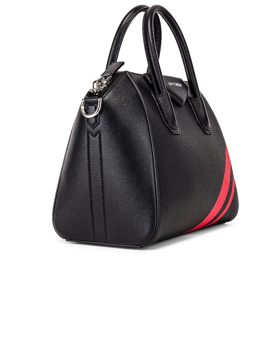 Image 4 of Givenchy Small Antigona Bag in Black & Red