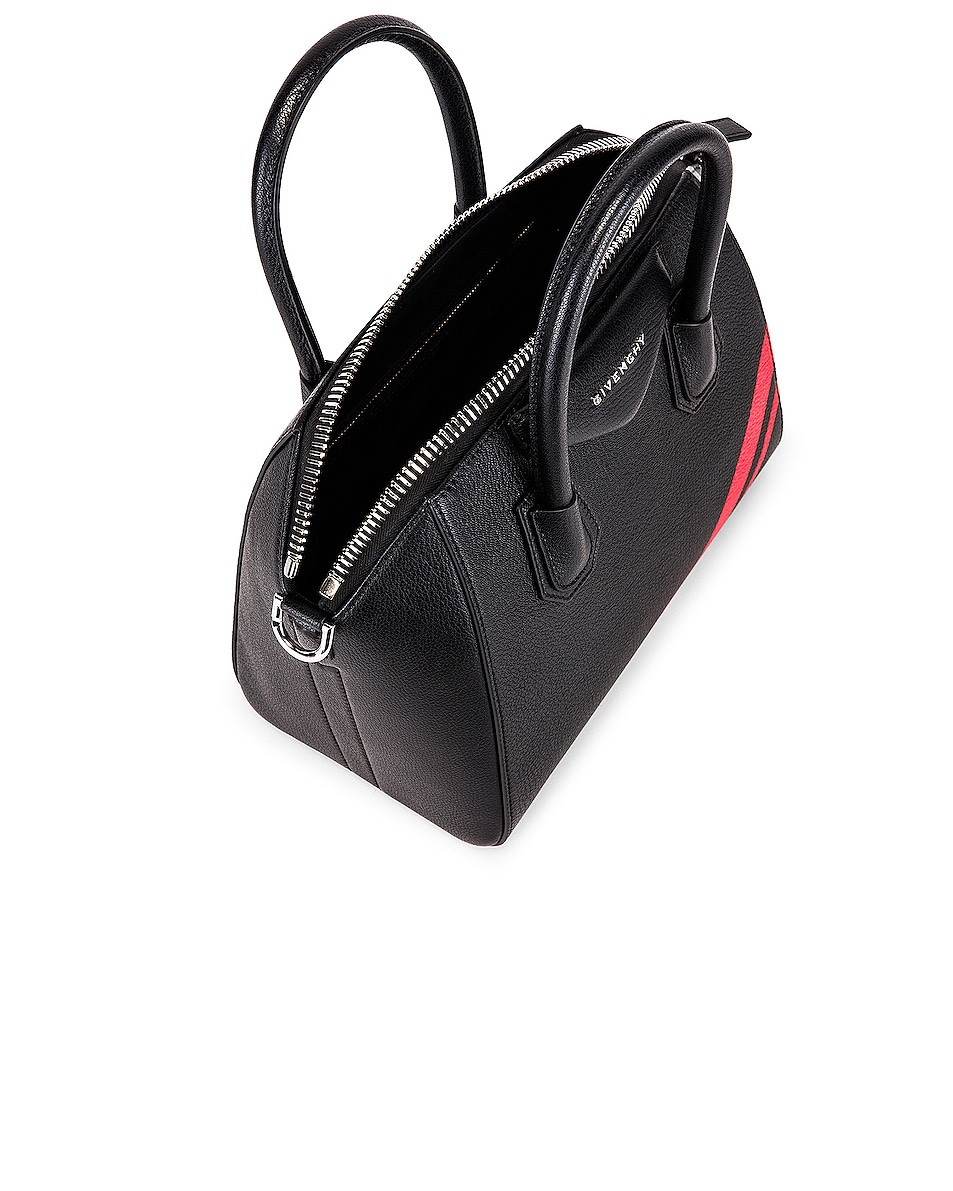 Image 5 of Givenchy Small Antigona Bag in Black & Red