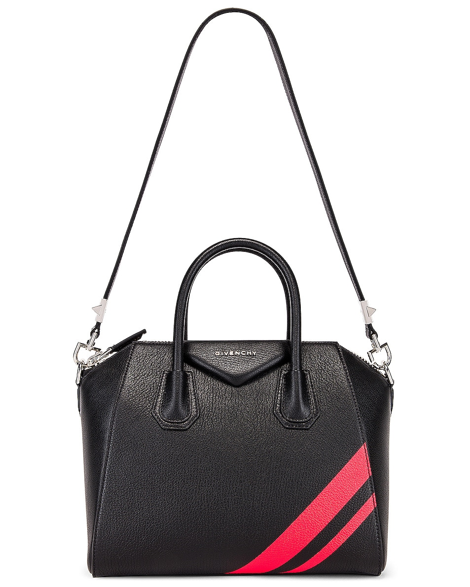 Image 6 of Givenchy Small Antigona Bag in Black & Red