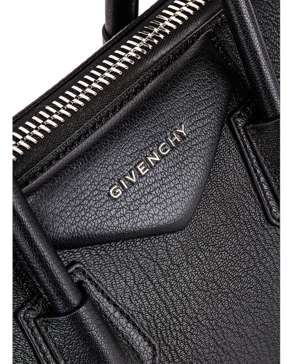 Image 7 of Givenchy Small Antigona Bag in Black & Red