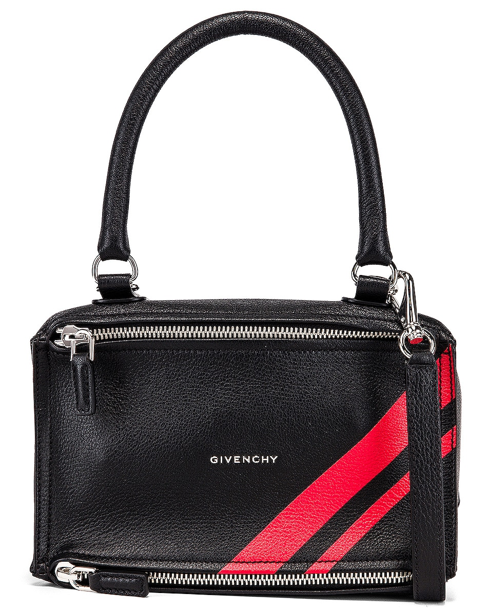 Image 1 of Givenchy Red Stripe Small Pandora Bag in Black & Red