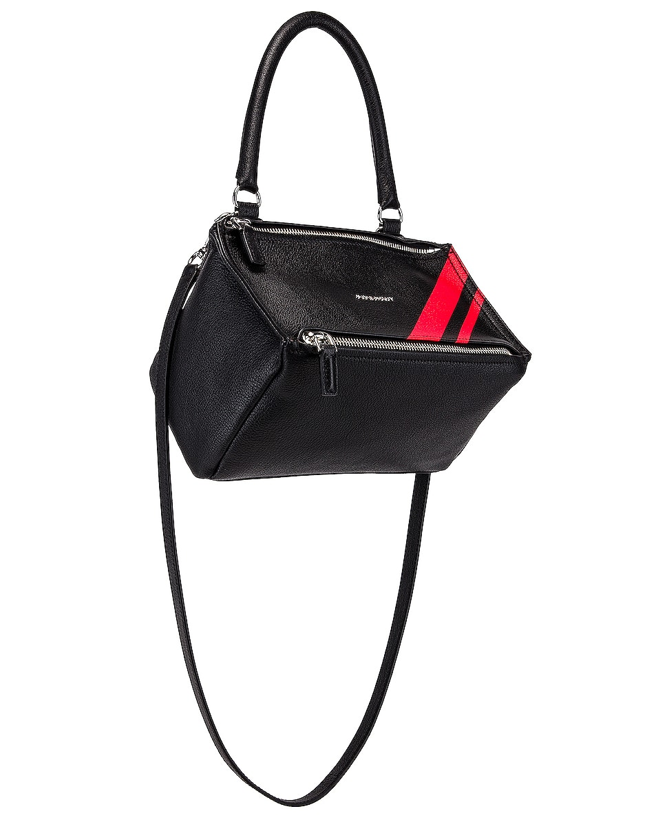 Image 4 of Givenchy Red Stripe Small Pandora Bag in Black & Red
