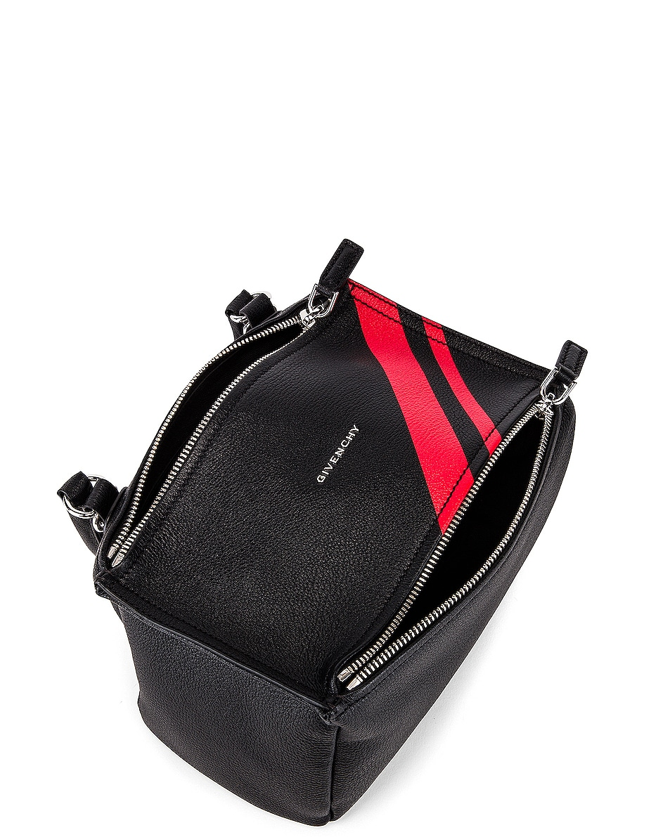Image 5 of Givenchy Red Stripe Small Pandora Bag in Black & Red