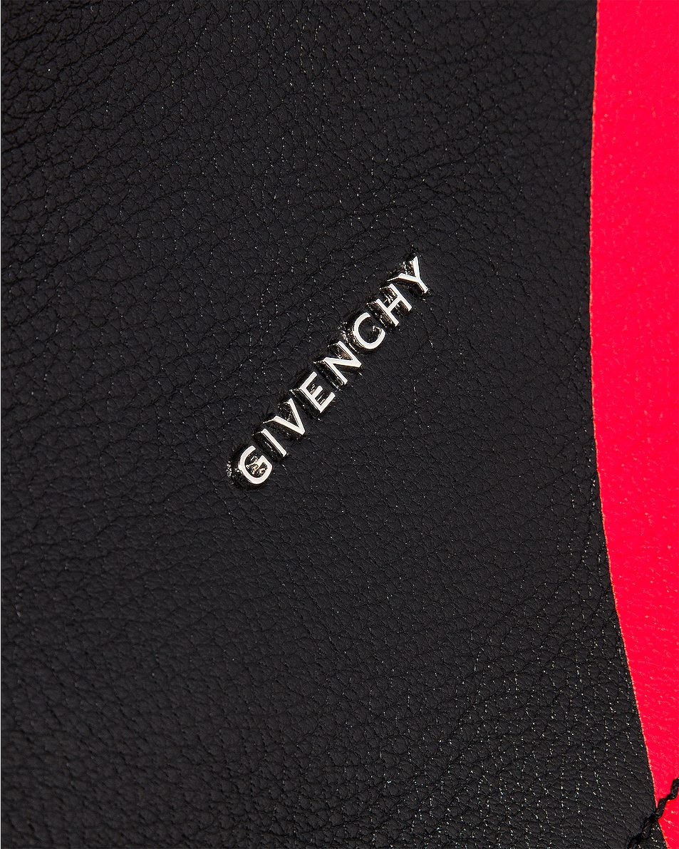 Image 7 of Givenchy Red Stripe Small Pandora Bag in Black & Red