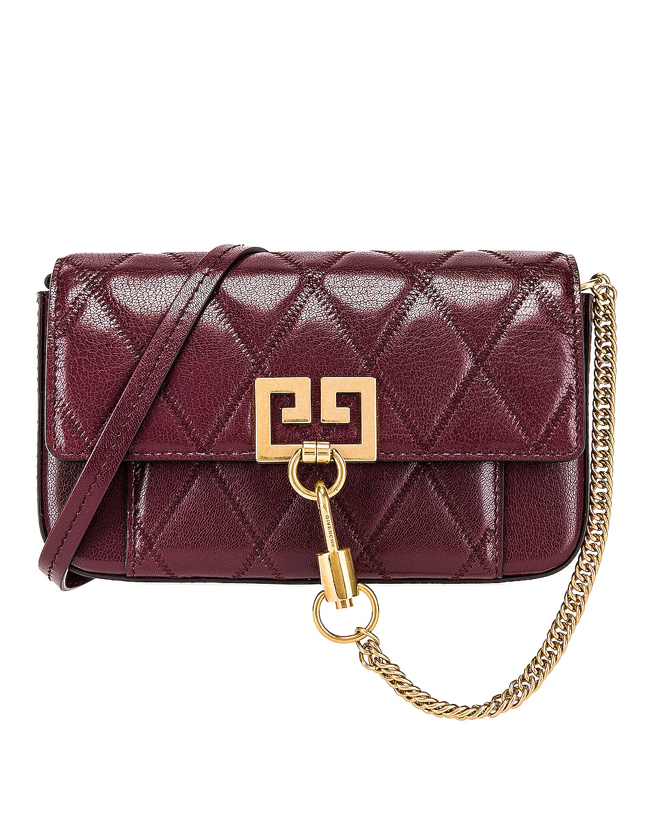Image 1 of Givenchy Mini Pocket Chain Bag in Aubergine