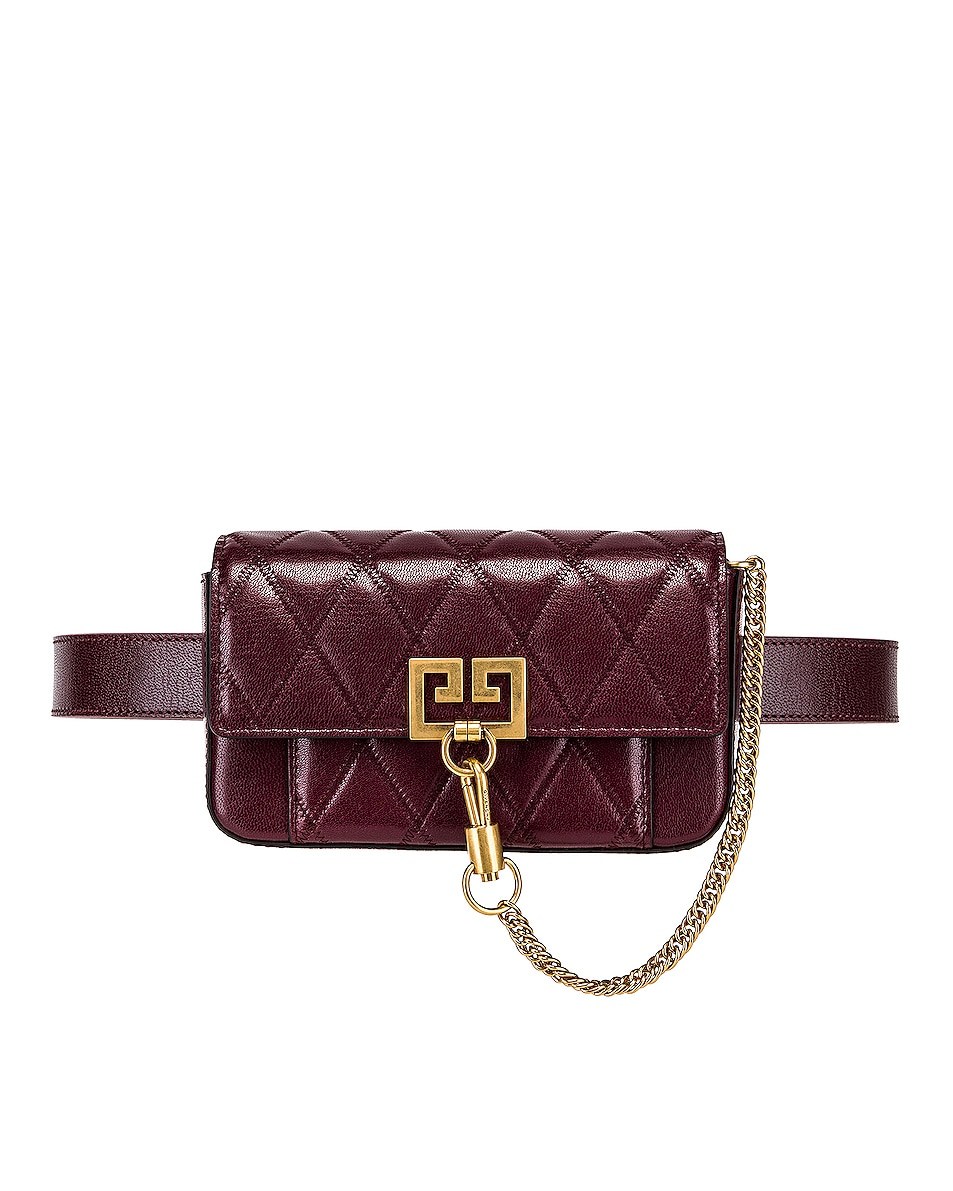 Image 4 of Givenchy Mini Pocket Chain Bag in Aubergine