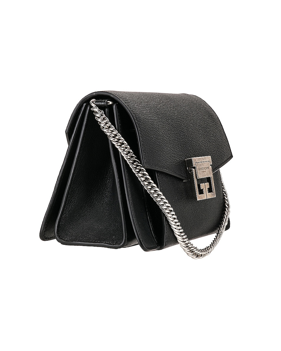 Image 4 of Givenchy Small Leather GV3 in Black