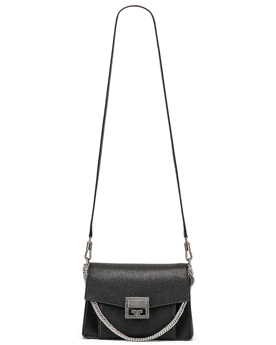 Image 6 of Givenchy Small Leather GV3 in Black