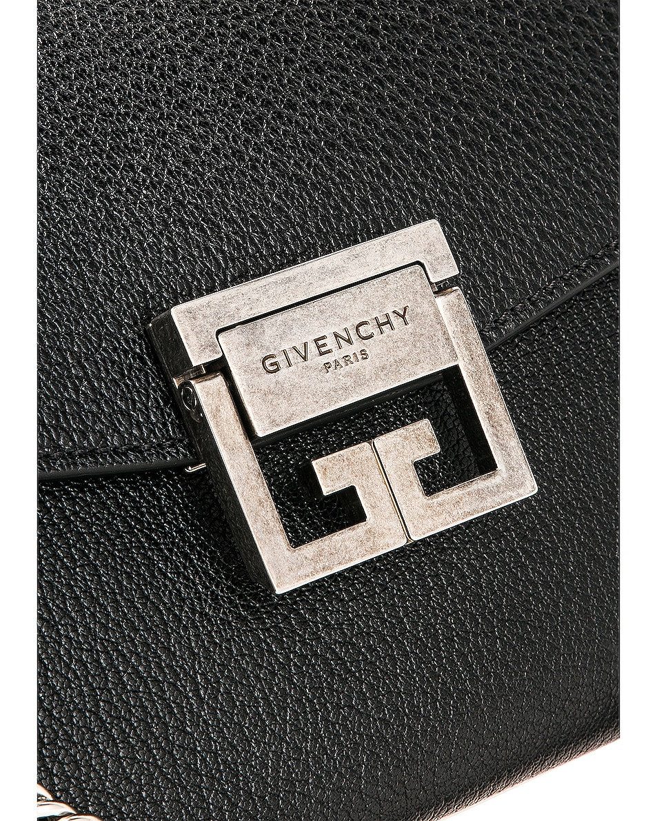 Image 8 of Givenchy Small Leather GV3 in Black