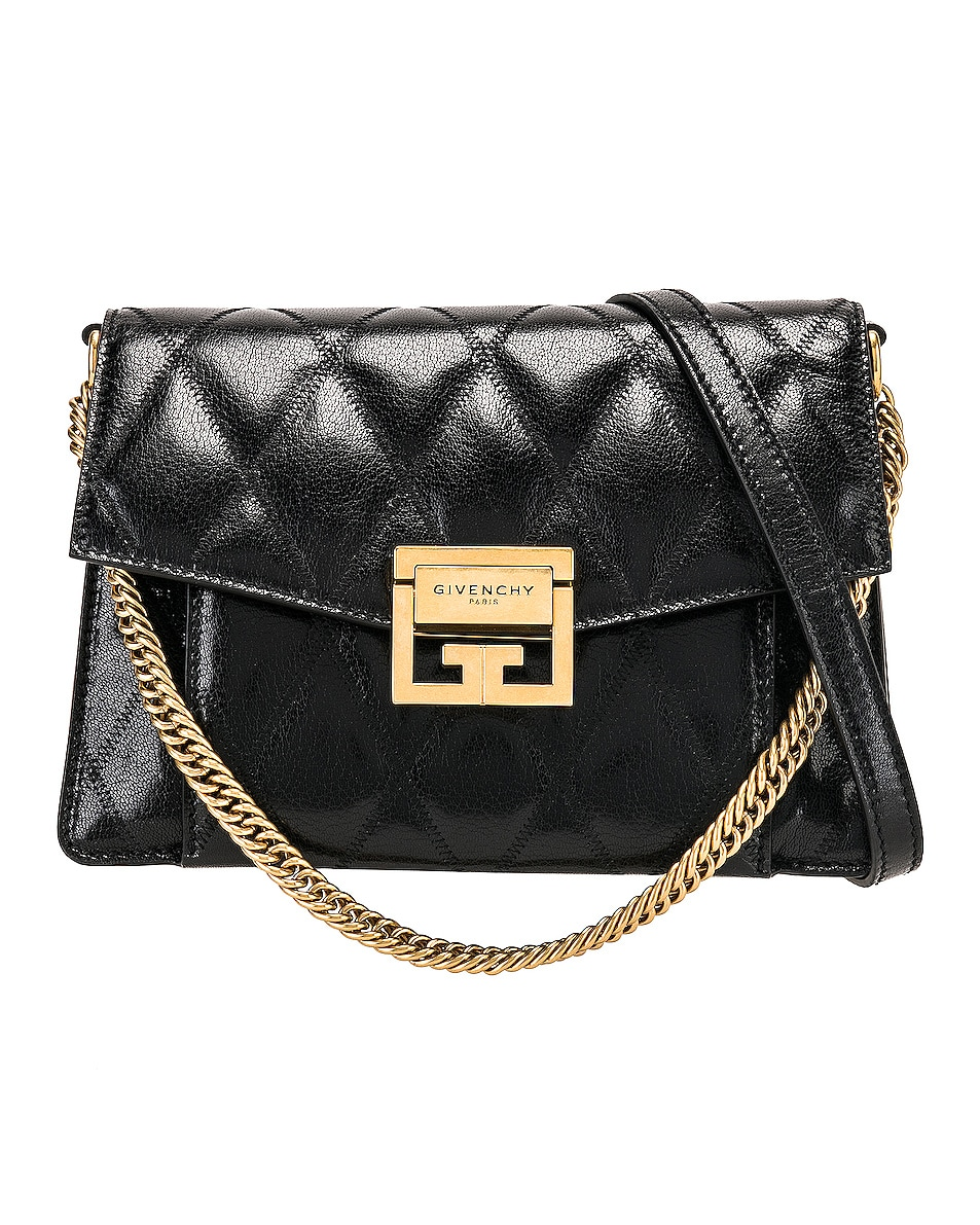 Image 1 of Givenchy Small Quilted Leather GV3 in Black