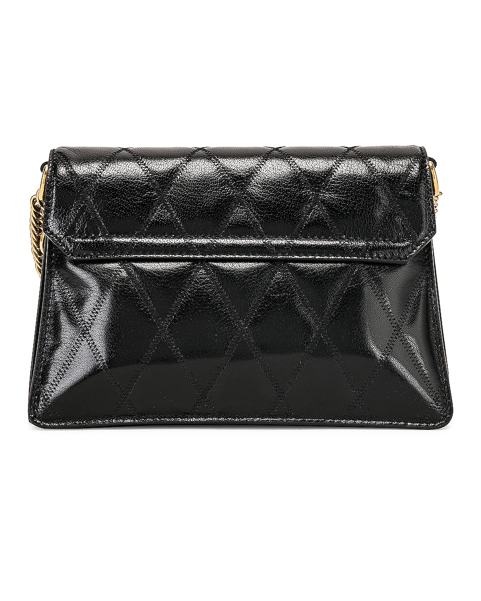 Image 3 of Givenchy Small Quilted Leather GV3 in Black