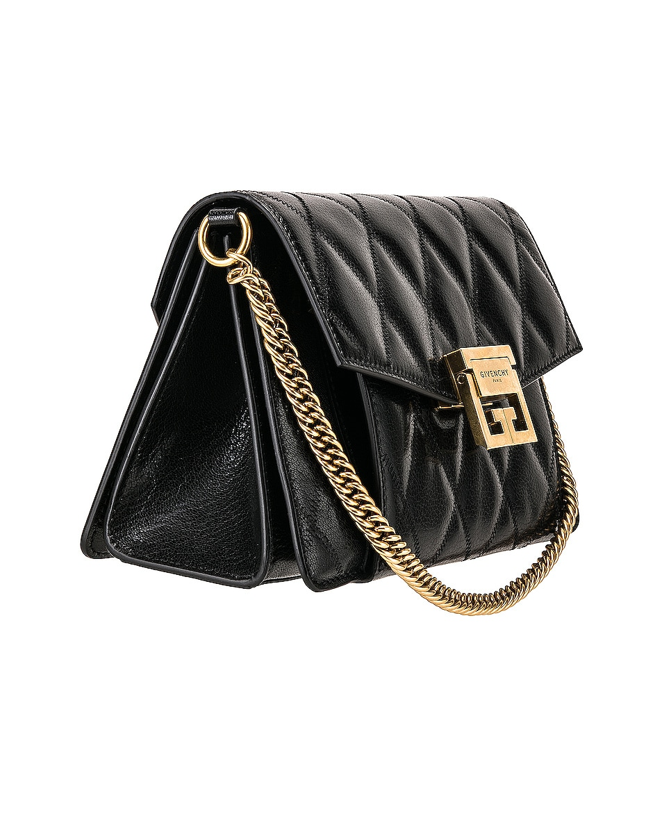 Image 4 of Givenchy Small Quilted Leather GV3 in Black
