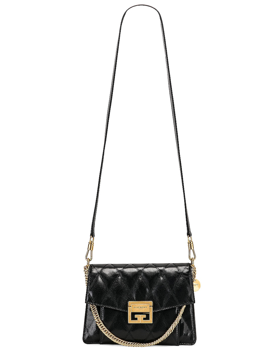 Image 6 of Givenchy Small Quilted Leather GV3 in Black