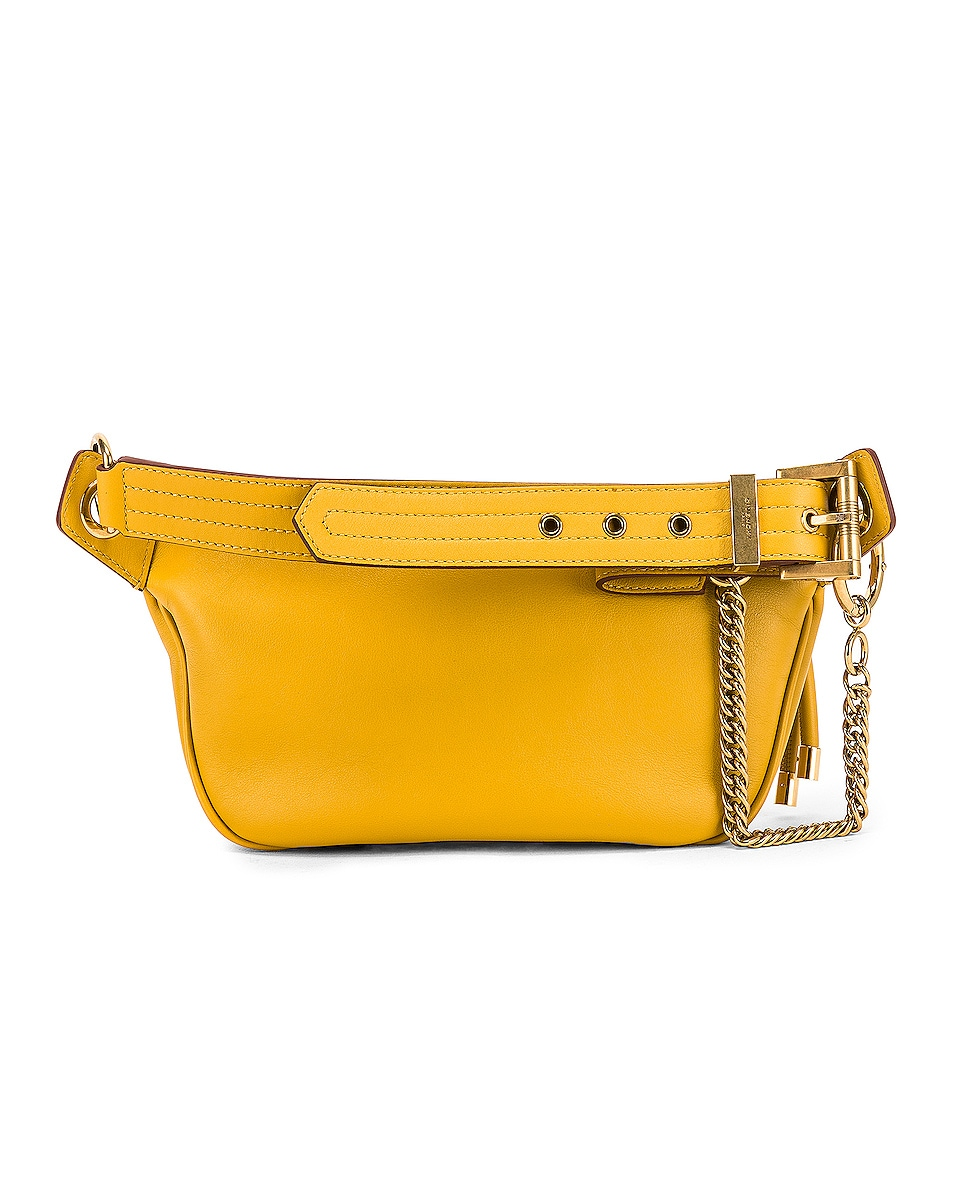 Image 3 of Givenchy Whip Chain Belt Bag in Yellow Curry